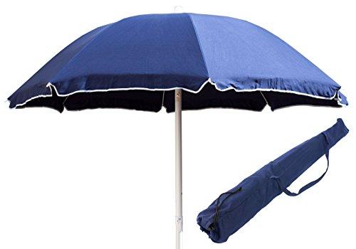 Ombrellone Spiaggia in COTONE tinta unita Mare Lido LIPARI - Blu