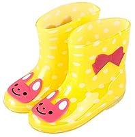 Plus Nao(プラスナオ) 子供用 長靴 レインブーツ レインシューズ 男の子 女の子 ベビー キッズ 猫 ウサギ カエル 雨具 15 16 17 18 19 18 ウサギイエロー
