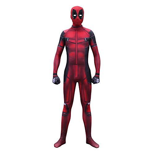 YIWANGO Vestido Nio Deadpool Disfraz Bola De Disfraces Halloween Traje De Superhroe,Child-L