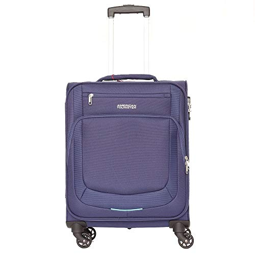 American Tourister Trolley Cab 4 Wheels Dark Blue Summer Session