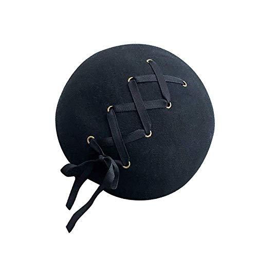 SYWJ Warm hat Mode Damen Herbst und Winter Hüte Baskenmütze Gebundene Seil Malerin Damen Hut weich