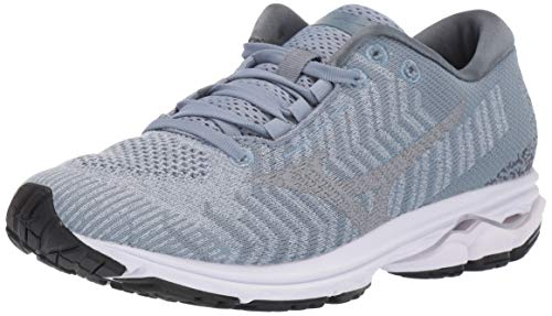 Mizuno womens Wave Rider 23 Waveknit Running Shoe, Blue Fog-vapor Blue, 10.5 US