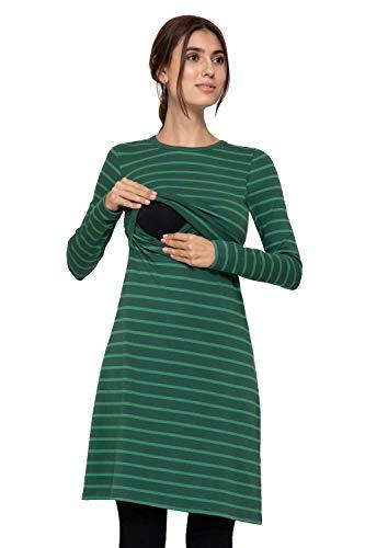 Milker Sofia - Robe d'allaitement Robe Grossesse Green Taille L