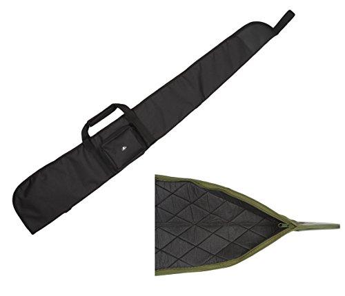 Case4Life Schwarz Gepolstertes Schutz Tasche für Luftgewehr/Schrotflinte/Jagdtasche + Abnehmbarer gepolsterter Schulterriemen
