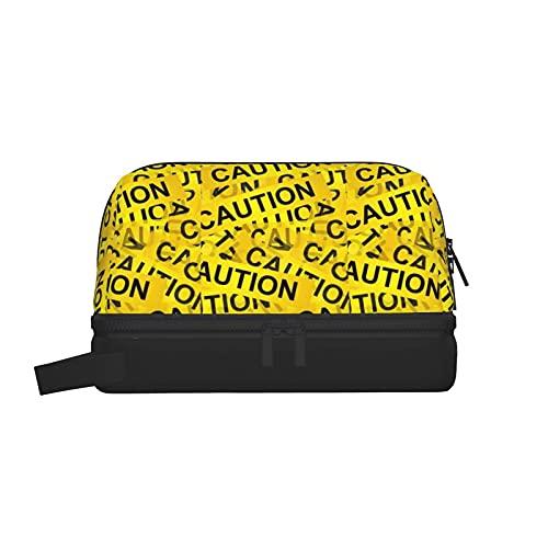 Trousses de toilette Attention Trousse de toilette Pochette de maquillage Organisateur de voyage suspendu avec sac à cosmétiques séparé sec et humide