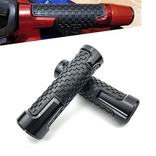 Motorcycle Grips 7/8' 22mm Universal Non Slip Handlebar Grips Aluminum Handle Grips for CBR 60F 125R 250R 400 CBR 600RR 900RR 954RR 1000RR FIREBLADE (black)