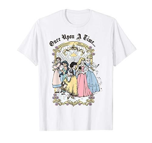 Disney Princess Once Upon A Time Vintage Cartoon T-Shirt