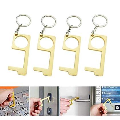 VAINECHAY – Juego de 4 llaves de mano sin contacto para puerta con llave