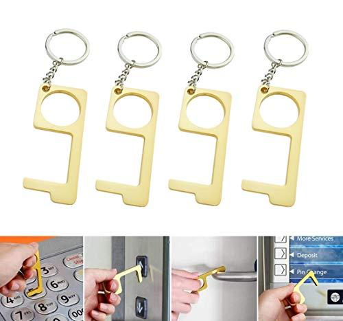 VAINECHAY - Juego de 4 llaves de mano sin contacto para puerta con llave