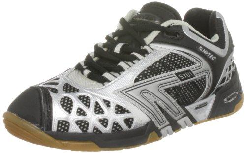 Hi-Tec Hi-Tec S701 4:SYS C000890/021/01, Damen Sportschuhe - Squash & Badminton, Schwarz (Black/Silver), 38,5 EU / 5,5 UK