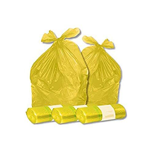 VIRSUS Sacchi Spazzatura Colore Giallo cm 70x110 (110 Litri) 350 Pezzi