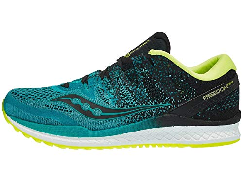 Saucony Men's Freedom ISO 2 Running Shoe, Teal/Black, 7.5 M US