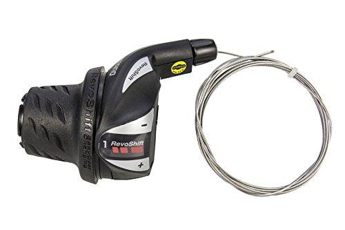 SHIMANO 67128 Innenzug Fahrrad-Drehgriffschalter, 3-Fach, Links, STANDARD