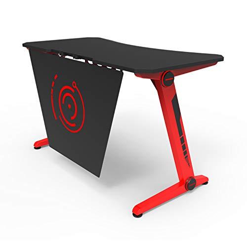 HFTEK - Ergonomischer Gaming Schreibtisch - Gaming Tisch - Gamer Desk - Computertisch mit Kabelmanagementsystem (FA21GRB)