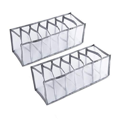 N/F Yemiany Organizador de Ropa Interior Plegable,Caja de Ropa Interior,2 divisores de...