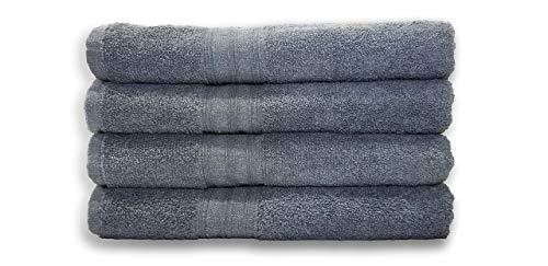 Springfield Linen Bath Towels  Cotton Bath Towels Pack of 4 Premium Quality 100% Cotton Size 27x54 Highly Absorbent and Multi Purpose Bath Towel Set  Machine Washable Grey Bath Towels Grey