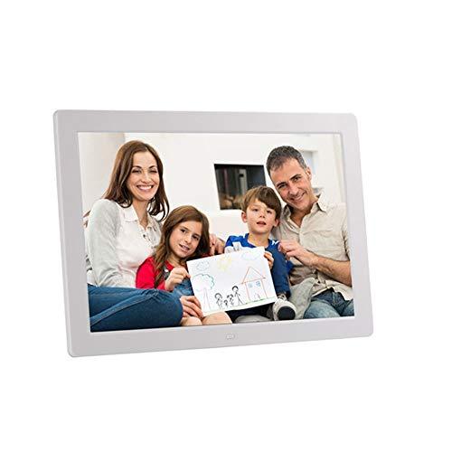 Marco de Fotos Digital Marco Digital de Fotos de 15 Pulgadas 1280 * 800 píxeles Pantalla LED de Alta resolución 1080P Reproducción de Video HD Temporizador de Encendido/Apagado automático Control re