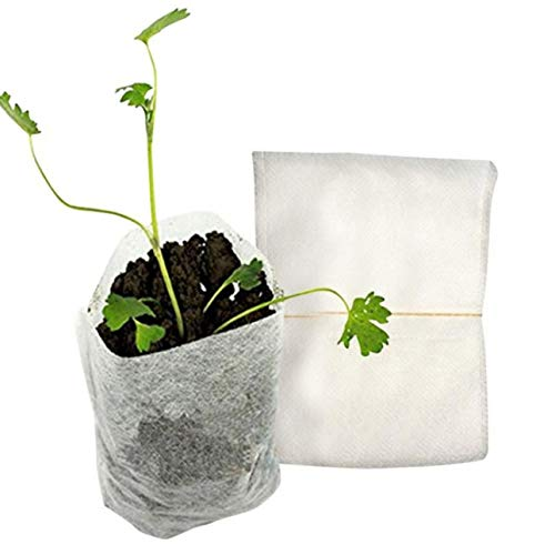 Ba30FRllylelly 100 pcs/pack Protection de l'Environnement Pépinière Pots Semis Élever Des Sacs De Rangement Non-tissé Pépinière Sacs Jardin Fournitures