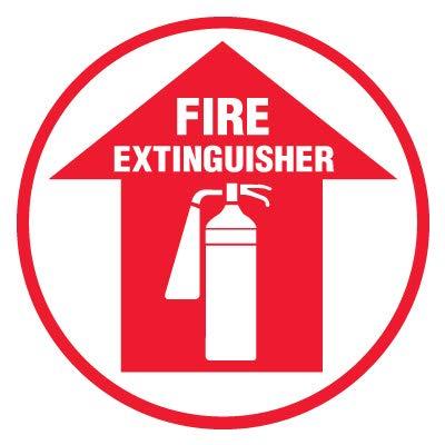 Floor Indefinitely Decal-FIRE EXTINGUISHER17