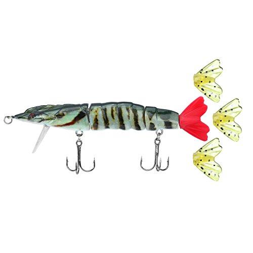 ROSE KULI Topwater Fishing Trout Lures Hard Shrimp Multi Jointed Bass Baits Life Like Prawn CrankBaits