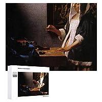 INOV ヨハネス フェルメール著重量 ジグソーパズル 木製パズル 500ピース 38 x 52cm 人気 パズル 大人、子供向け 教育玩具 ストレス解消 ギフト プレゼントpuzzle