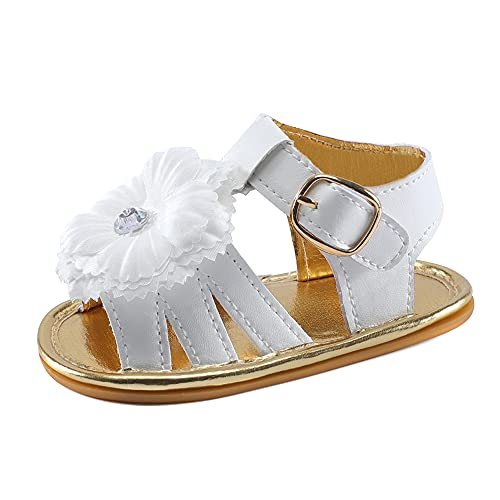 Lacofia Sandalias de Verano para bebé niñas Zapatos de Vestir de Flores de Infantiles para bebé