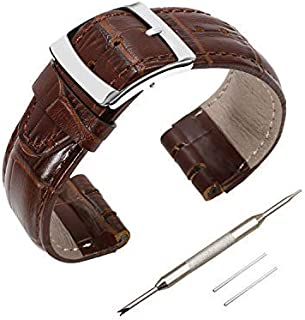 Genuine Leather Watch Strap Watch Band for Swatch, Accessories with Tool, Spring Bar Removal Tool, Full Calf Grain Skin St...