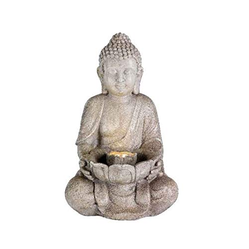 Kaemingk LED Buddha Statue Outdoor Water Feature