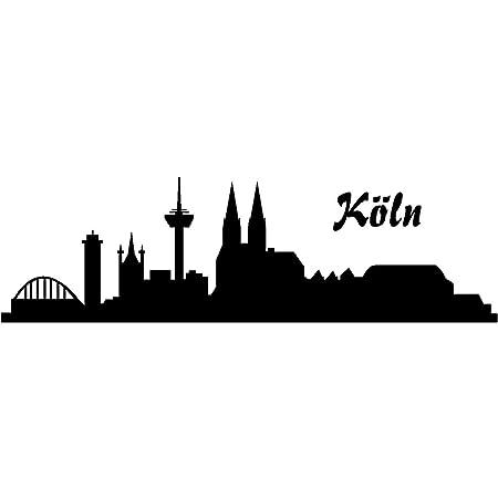 Samunshi Autoaufkleber Köln Aufkleber Skyline In 8 Größen Und 25 Farben 15x4 4cm Schwarz Küche Haushalt
