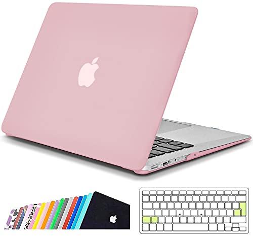 iNeseon MacBook Air Funda de 13 Pulgadas (Modelo A1466 A1369), Protectora Rígida Carcasa con Cubierta de Teclado para MacBook Air 13 2010-2017 (Tamaño 32.5 x 22.7cm), Cuarzo Rosa