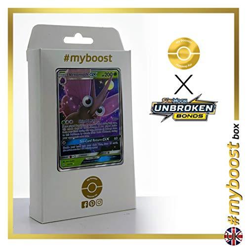 Venomoth-GX 12/214 - #myboost X Sun & Moon 10 Unbroken Bonds - Doos met 10 Pokemon Engelse kaarten