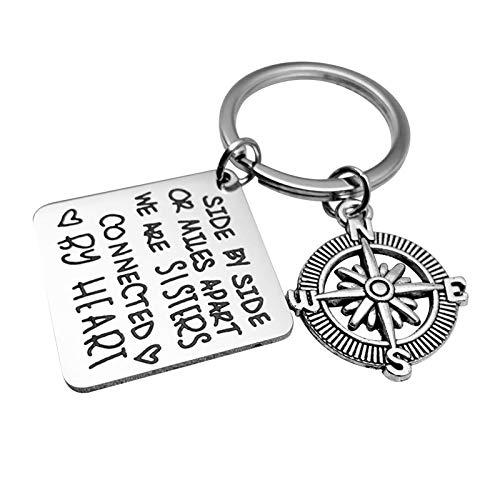 Malinmay Schlüsselring Klein, Edelstahl Schlüsselbund Hundemarke Graviert Ich werde...