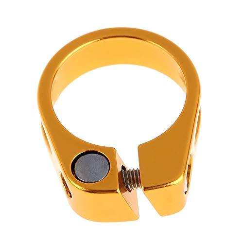 Abrazadera De Bicicleta Tubo de 31,8 mm de Aluminio MTB Bicicleta Silla del Asiento de la Abrazadera en Forma for 27.2mm Tija de sillín de Ciclo de Piezas Abrazadera Sillin Bicicleta (Color : Gold)