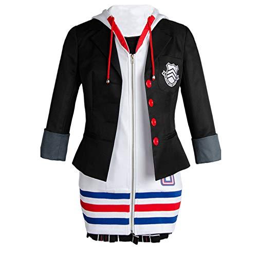 Ya-cos Shin Megami Tensei Persona 5 Anne Ann Takamaki Hoodie Cosplay Costume Dress Uniform
