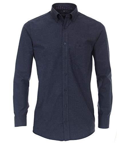 CASAMODA Herren Flanellhemd gestreift Comfort Fit 100 blau 3XL