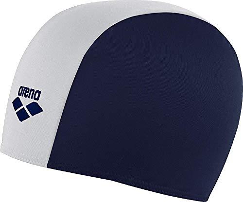 arena Kinder Unisex Badekappe Polyester aus Stoff (Wasserdurchlässig, Schnelltrocknend), Navy-White (71), One Size