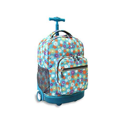 QCC& Multifunktion Wasserdicht Fahrbar Rollen Gepäck Rucksack Zum Jungen Mädchen Jugendliche Schulreise Trolley Schultaschen 18,11 * 18,66 * 13,38 Zoll Empfohlenes Alter: 10-17 Jahre Alt,A