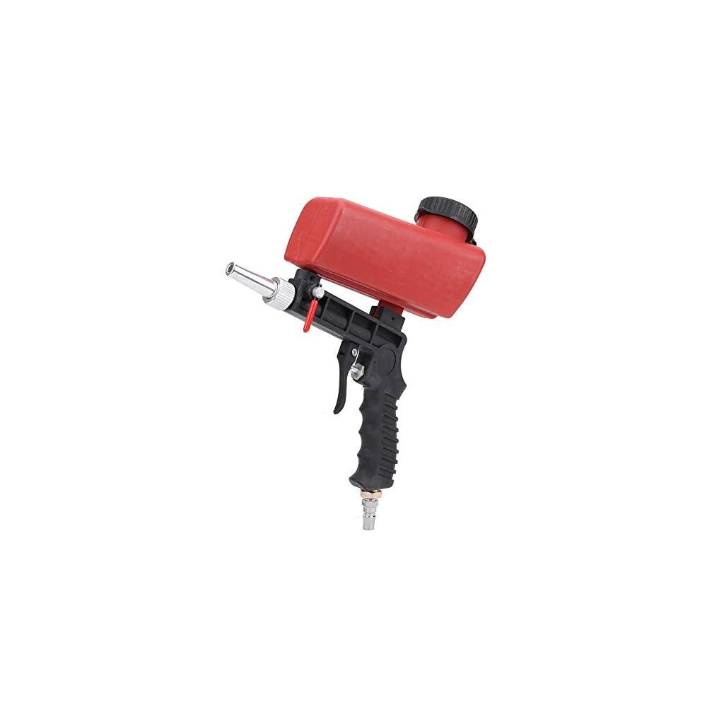 Sableuse à sable, petite machine de sablage au jet de sable 90PSI pour pistolet à air de poche facile à utiliser…