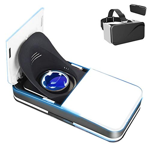 Best Price LL dawn Folding 3D Vr Glasses, Virtual Reality Headset, Digital Smart Phone Helmet for Co...