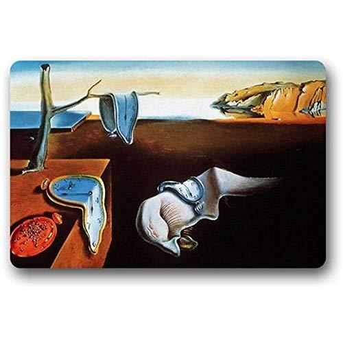 jingqi Lfombra,Felpudo Absorbente,Tapete De Baño,Pintura Personalizada De Salvador Dali,Salvador Dali Art Alfombra De Baño,50X80Cm,Tapete De Puerta