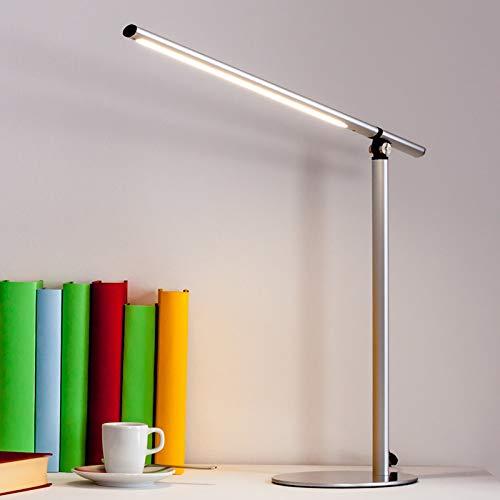 Lindby LED Tischlampe 'Kolja' (Modern) in Alu aus Aluminium u.a. für Arbeitszimmer & Büro (1 flammig, A+, inkl. Leuchtmittel) - Tischleuchte, Schreibtischlampe, Nachttischlampe, Arbeitszimmerleuchte