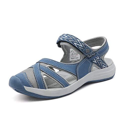 DREAM PAIRS Women's Hiking Sandals Sport Athletic Sandal Dark Blue Size 6.5 M US 181103L
