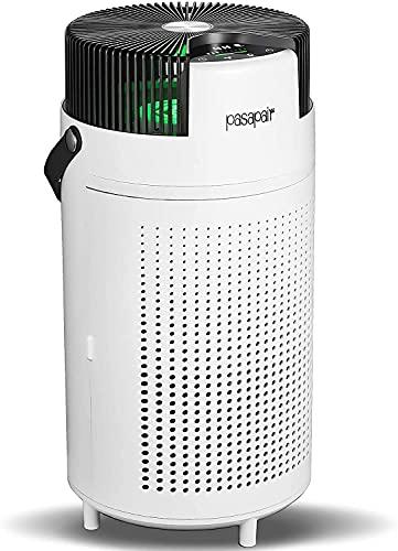 Purificador de aire pasapair con filtro H13 Hepa La eficiencia de limpieza alcanza el 99.9% con el modo de suspensión automático para dormitorio grande de 50m² oficina humo polvo polen cabello