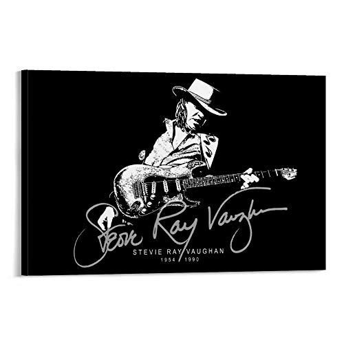 ASDJL Stevie Ray Vaughan Adesivi su tela e stampa artistica da parete, 60 x 90 cm