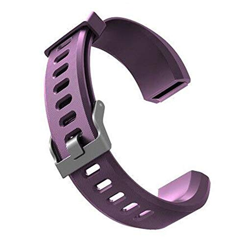 DNelo Reemplazo de Silicona Muñequera para Veryfit Id115Plus Correa de Reloj Inteligente para Pulsera-Veryfit Id115Plus Púrpura