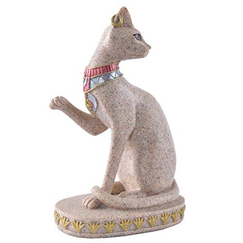 Générique Chat Egypte Statue de Grès Sculpture Figurine Sculpté à la Main