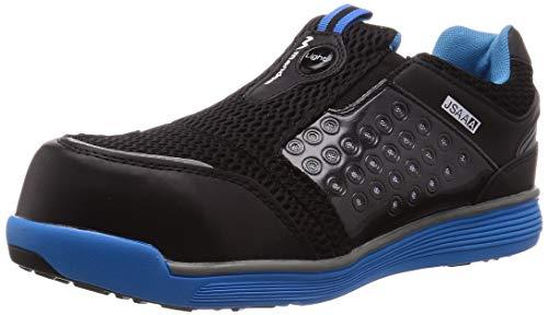 [マルゴ] 安全靴 作業靴 樹脂先芯 軽量 JSAA A種 耐油 4E マンダムセーフティーLight 767 ブルー/ブラック 23.5 cm