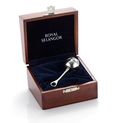 Royal Selangor Hand Fertig Gift Box-Sammlung Zinn-Baby-Geklapper in Holzbox