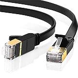 UGREEN 2 Unidades Cable de Red Cat 7, Cable Ethernet LAN 10000Mbit/s con Conector RJ45 (10 Gigabit, 600MHz, Cable FTP), Compatible con Cat 6, Cat 5e, Cat 5 (2 Metros)
