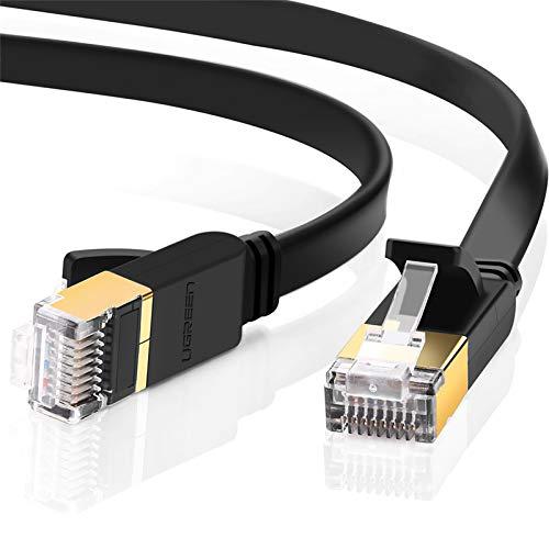 UGREEN 2 Unidades Cable de Red Cat 7, Cable Ethernet LAN 10000Mbit/s con Conector RJ45 (10 Gigabit, 600MHz, Cable FTP),...